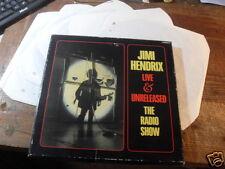 JIMI HENDRIX LIVE&UNRELEASED THE RADIO SHOW 5 RECORDS BOX SET - RARO!!!