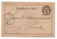1899 AUSTRIA Cover GROSS PÖCHLARN To LINZ Stationery Postcard 2k brown