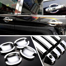 For Honda CR-V 2007-2011 Chrome Car Door Handle + Bowl Covers Trim Molding 1Set