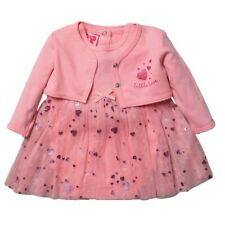 BABY GIRLS TUTU BODYSUIT DRESS & BOLERO SET 0-3 Months Pink