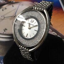 Ladies Swarovski Watch CRYSTALINE Swiss Made Quartz Steel Silver Genuine 5181008