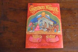 Vintage 1970 Whitman Christmas Manger Nativity Punch Out Book-NOS-UNUSED