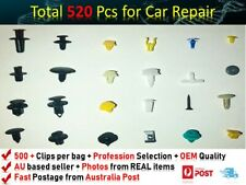 520PCS  PLASTIC SCRIVET SCREW CLIPS FIX DOOR BOOT TRIM PANEL BUMPER FIT DAIHATSU
