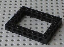 LEGO Black Technic Brick 6 x 8 Open Center Ref 32532 40345 Set 75222 75253 10030