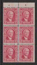 Canal Zone Sc 106a booklet pane, pos J guideline bottom, MNH, F-VF