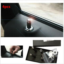 4x Genuine Carbon Fibre Anti-Theft Interior Door Lock Knobs Pins Fit For Car SUV