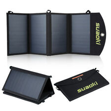 Suaoki 20W Solar Charger Sunpower Panel Foldable Dual USB-Port F iPhone Samsung