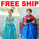 Disney FROZEN Princess Anna Elsa Queen Girls Cosplay Costume Party Formal Dress