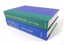 Set (2) JOHN GARDNER 1st Printing HCs: Nobody Lives Forever; No Deals, Mr. Bond
