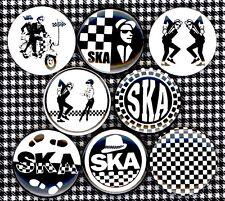 SKA x 8 NEW 1 inch pins buttons badge rude boy 2 tone skank dance specials punk