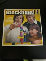 Vintage 1975 Blockhead Board Game Parker Brothers VG Condition Complete