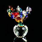 Ornament Fengshui Glass Money Lucky Tree Crystal Flower Crafts Figurines Christm