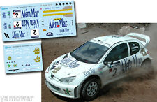 Decal 1:43 Jani Paasonen - PEUGEOT 206 WRC - SATA Rallye Azores 2003