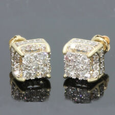 18k Yellow Gold Filled Crystal Ear Studs Earrings Women Wedding Party Jewelry AU