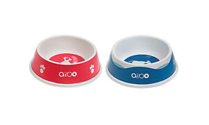 aibo accessories Water & Meal Bowl set AI Dog Robbot SONY Pink Blue Drink Bowl