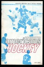 March 8, 1970 Rochester Americans Vs Cleveland Barons Hockey Program AHL