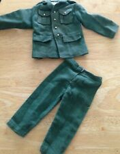 "VINTAGE BUNDLE ""ACTION MAN"" MILITARY GREEN JACKET WITH BEADING & TROUSERS"