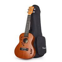 Kmise Concert Ukulele 23 Inch Ukelele Acoustic Hawaii Guitar Sapele W/Gig Bag