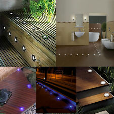 Pack of 10 30mm Low Voltage LED Deck Lights Kit Garden Yard Stairs Decoration