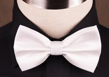 White Ego Designer Fashion Bow Tie Wedding Formal Shirts Fashion Bowtie