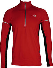 More Mile Alaska 2 Mens Thermal Running Top Red Half Zip Long Sleeve Run Jersey