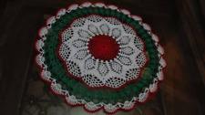 Christmas crochet lace handmade doilie.