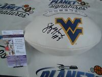 Skyler Howard signed West Virginia WVU Mountaineers Eers logo football JSA COA