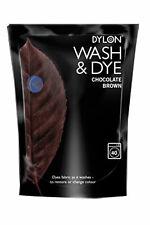 2 x 400 g Chocolat Marron DYLON Lavage en Machine & Teinture Tissu Vêtements Tex...