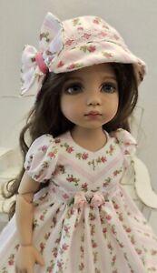 "Pink Floral Dress & Hat - fits 13"" Little Darling by Dianna Effner"