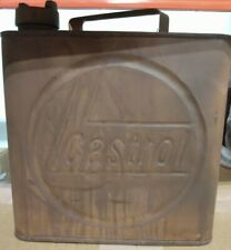Metal Square Castrol Gas or Can Oil Advertising Garage Shop Man Cave Decor