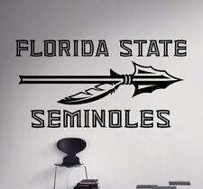 Wall Decal Florida State Seminoles NCAA College Football Vinyl Sticker (13nc)