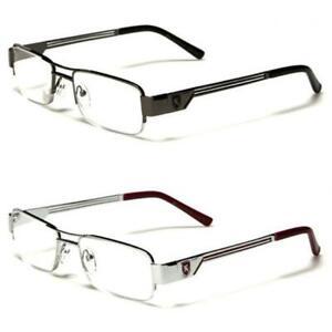 Khan Mens Womens Metal Reading Glasses Designer semi rimless slim frame RK5