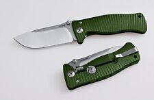 Messer LionSteel SR 2 grün satin Sleipner Vollmetall Jagdmesser Outdoor SR2A GS
