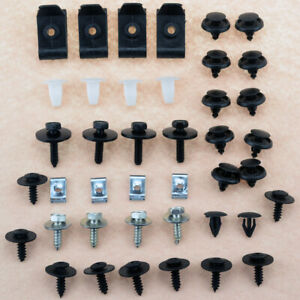Engine Underbody Guard Plate Tray Cover Hardware Screw Bolt Fastening Clamp Kit