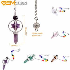 Natural Crystal Stone Chakra Pendulum Merkaba Reiki Energy Healing Pendant 1 pcs