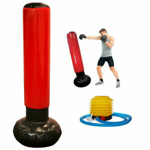 Inflatable Punch Punching Bag Tower Boxing Workout Gym Training Exercise + Pump