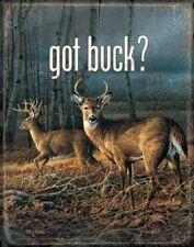 Tin Sign Got Buck? The Birch Line artwork by Terry Redlin - Whitetatil Deer
