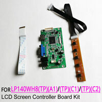 For LP140WH8 (TP)(A1)/(C1)/(C2) 1366x768 EDP 30-pin monitor controller board kit