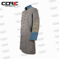 Us Civil War Confederate 1 Row Braid Double Breast Infantry Frock Coat All Sizes