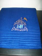 Disney Disneyland 50th Anniversary Throw Blanket Navy Blue Rare New in Package