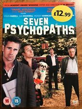 Colin Farrell SEVEN PSYCHOPATHS ~ 2012 Cult Comedy Caper UK DVD with Slipcover