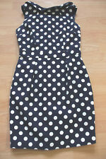 BODEN sleeveless  Martha dress size 12R     blue spotted