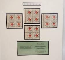 I. Weltkrieg 1. WK Rotes Kreuz Kreuz Pfennig Sammlung Blöcke 1914