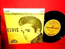ELVIS PRESLEY That's all right Mama 45rpm 7' + PS 1989 ITALY MINT