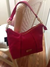"Authentic "" Tommy Hilfiger "" Women's Genuine Pebble Leather Pink Hobo 0/S TU"