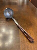 Vintage StanHome Ladle Brown Plastic Handle Stainless Steel Mid-Century