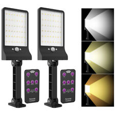 2X LED Solar Power Dusk to Dawn Light PIR Motion Sensor Outdoor Street Wall Lamp