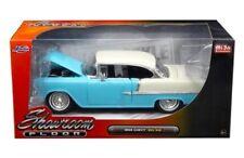 """1955 CHEVROLET BEL AIR HARD TOP BLUE """"SHOWROOM FLOOR"""" 1/24 DIECAST BY JADA 98886"""