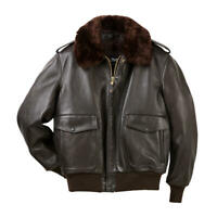 G-1 AVIATOR A-2 BOMBER BROWN NAVY FLIGHT DISTRESSED REAL LEATHER JACKET FOR MENS