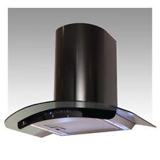 Premier Range 60cm Black Glass Truly Curved Black Cooker Hood H76,6B